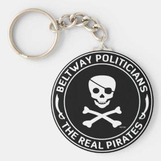 Beltway Pirates Basic Round Button Keychain