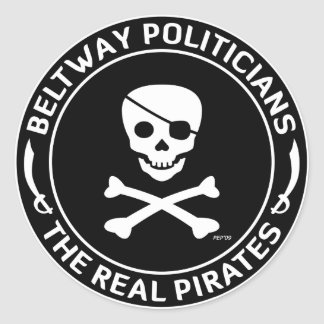 Beltway Pirates Round Sticker