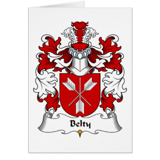 Belty Family Crest Card
