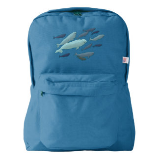 Beluga Backpack Beluga Whale School Bags Customize