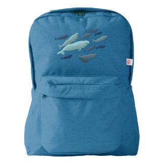 Beluga Backpack Beluga Whale School Bags Customize