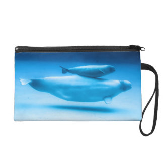 Beluga Mother and Baby Wristlet Purse