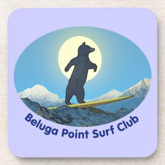 Beluga Point Surf Club Beverage Coaster