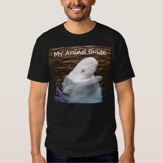 Beluga whale animal guide shirt