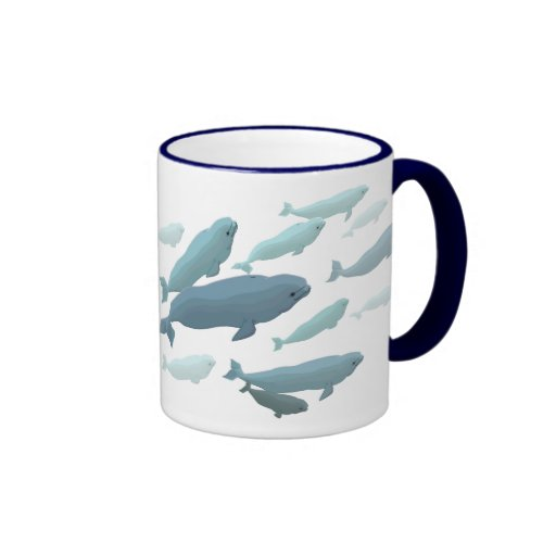 Beluga Whale Art Mug Marinelife Coffee Cup