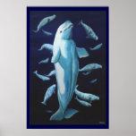 Beluga Whale Art Print Marinelife Whale Painting