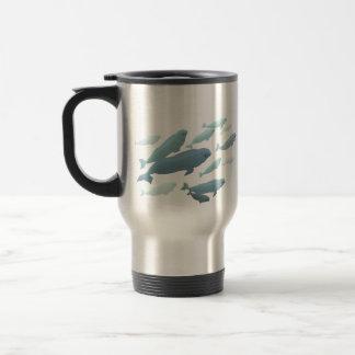 Beluga Whale Art Travel Mug Marinelife Coffee Cup
