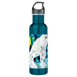 Beluga Whale blue Water Bottle