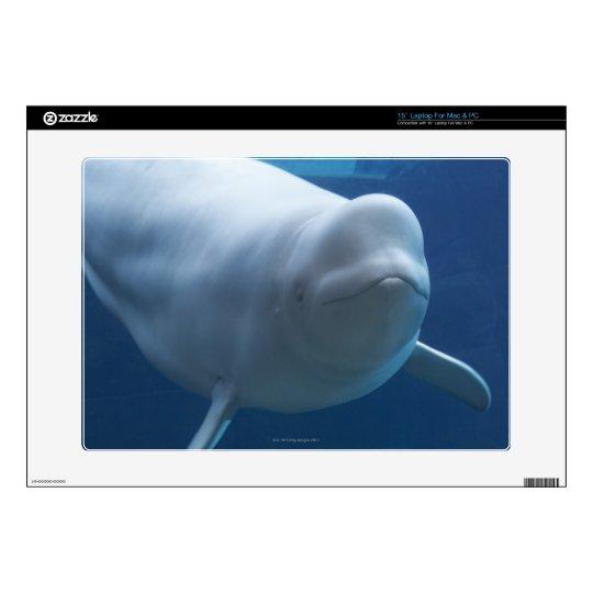 "Beluga whale (Delphinapterus leucas) 15"" Laptop Skins"