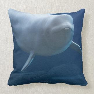 Beluga whale (Delphinapterus leucas) Throw Pillow