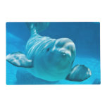 Beluga Whale Laminated Placemat