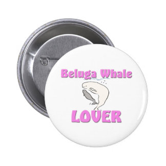 Beluga Whale Lover Button
