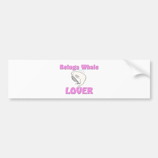 Beluga Whale Lover Car Bumper Sticker