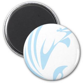 Beluga Whale 2 Inch Round Magnet