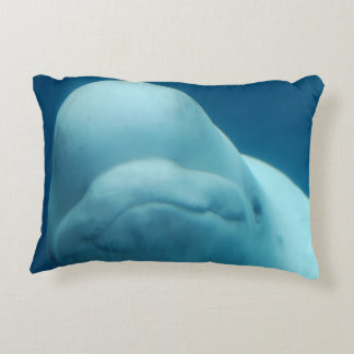 Beluga Whale Accent Pillow