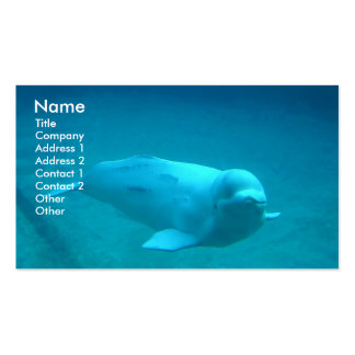 Beluga Whale Nature Business Card