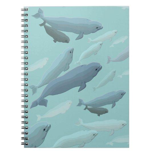 Beluga Whale Notebook Whale Art Journal Book