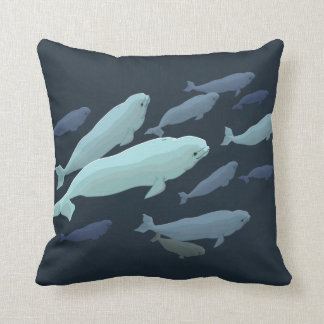 Beluga Whale Pillow Baby Beluga Whale Throw Pillow