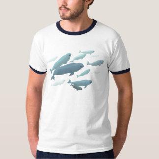 Beluga Whale Ringer T-Shirt White Whale Art Shirts