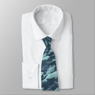 Beluga Whale Ties Whale Art Neckties Customize
