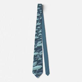 Beluga Whale Ties Whale Art Neckties Customize