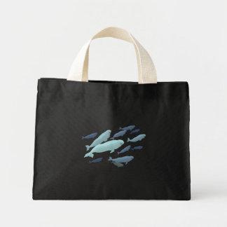 Beluga Whale Tote Bags Blue Beluga Bags