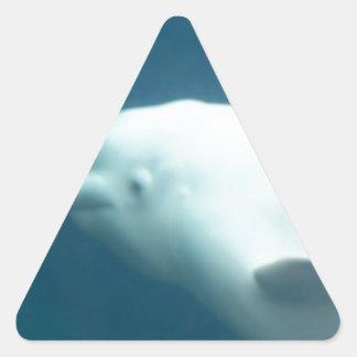 Beluga Whale Triangle Sticker