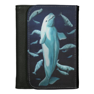 Beluga Whale Wallet White Whale Art Wallets Gifts