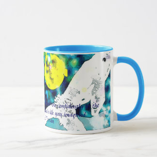 Beluga whale with inspirational quote mug