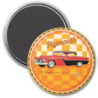 Belvedere 1955 de Plymouth Imán Redondo 7 Cm