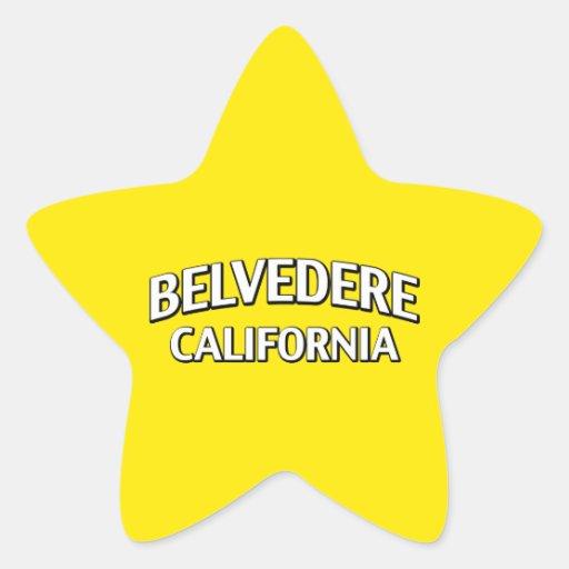 Belvedere California Colcomanias Forma De Estrella