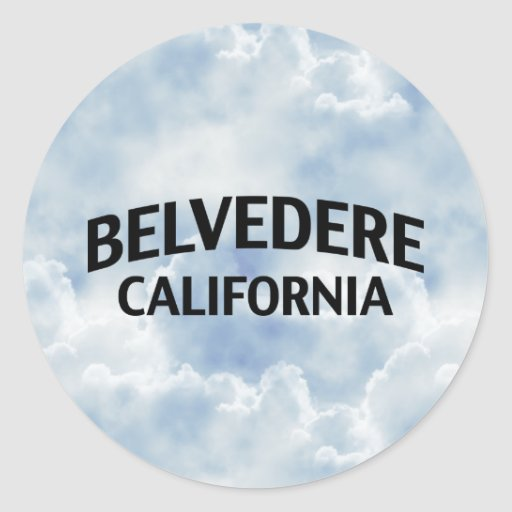 Belvedere California Pegatina