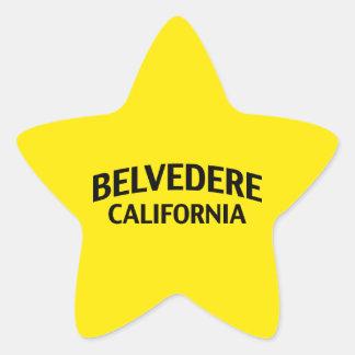 Belvedere California Pegatina En Forma De Estrella