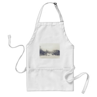 Belvedere Castle in the Winter in Central Park Adult Apron