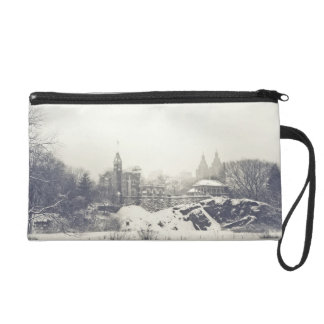 Belvedere Castle in the Winter in Central Park Wristlet