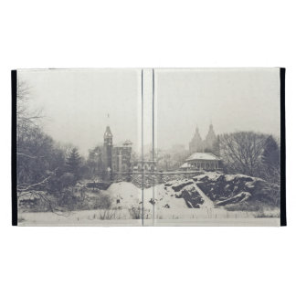 Belvedere Castle in the Winter in Central Park iPad Case