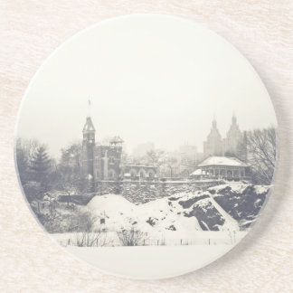 Belvedere Castle in the Winter in Central Park Coaster