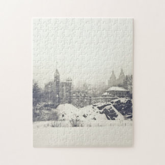 Belvedere Castle in the Winter in Central Park Jigsaw Puzzle
