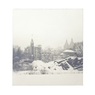 Belvedere Castle in the Winter in Central Park Memo Pads