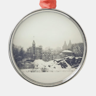 Belvedere Castle in the Winter in Central Park Ornament