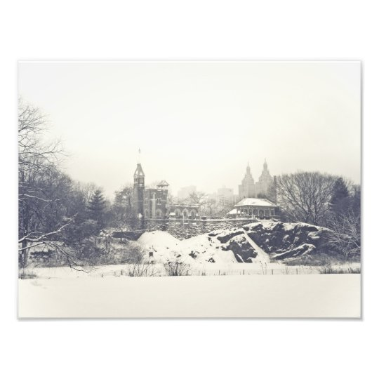 Belvedere Castle in the Winter in Central Park Photo Print