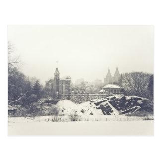 Belvedere Castle in the Winter in Central Park Postcard