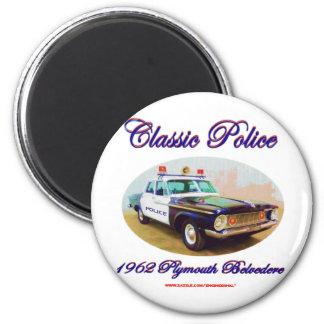 Belvedere clásico de Police1962 Plymouth Imán Redondo 5 Cm