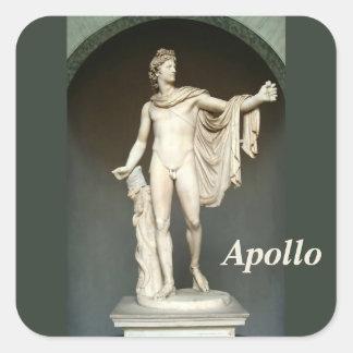 Belvedere de Apolo Pegatina Cuadrada