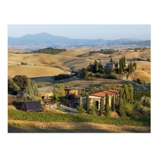 Belvedere House at sunset, San Quirico d'Orcia Postcard