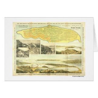 Belvedere Peninsula, Marin County, ca. 1890.  Card