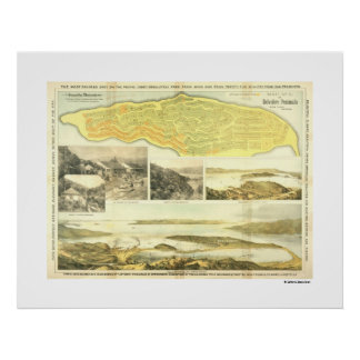 Belvedere Peninsula, Marin County, ca. 1890. Poste Poster