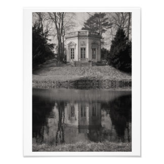 Belvedere Teahouse in Black & White Photographic Print