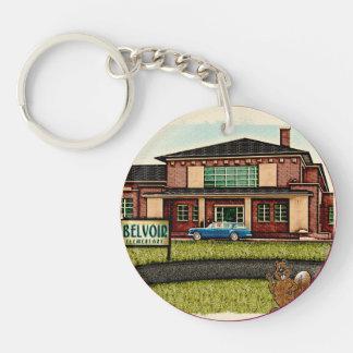 Belvoir Elementary Alumni (Personalized) Keychain