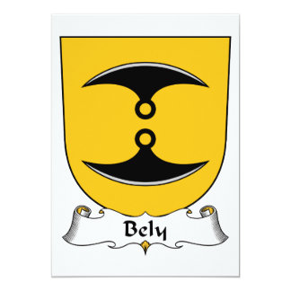 Bely Family Crest Card
